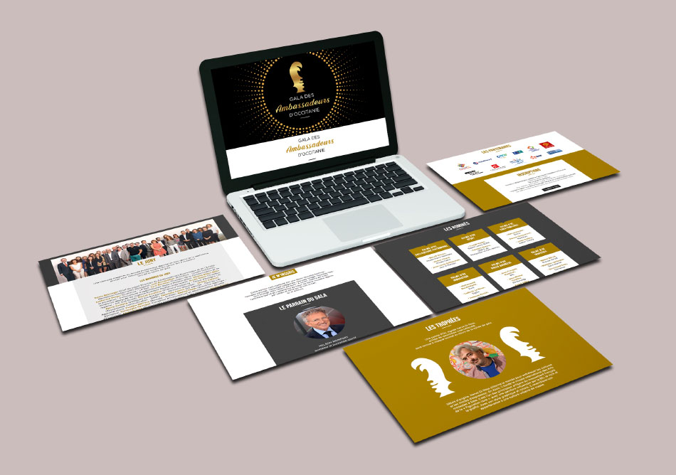Site web Gala des Ambassadeurs d'Occitanie