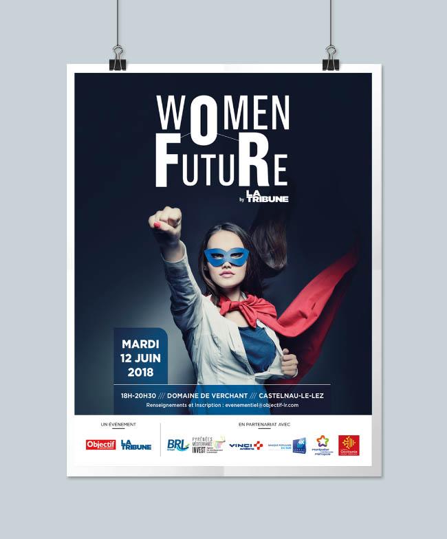 Affiche et site web Women For Future
