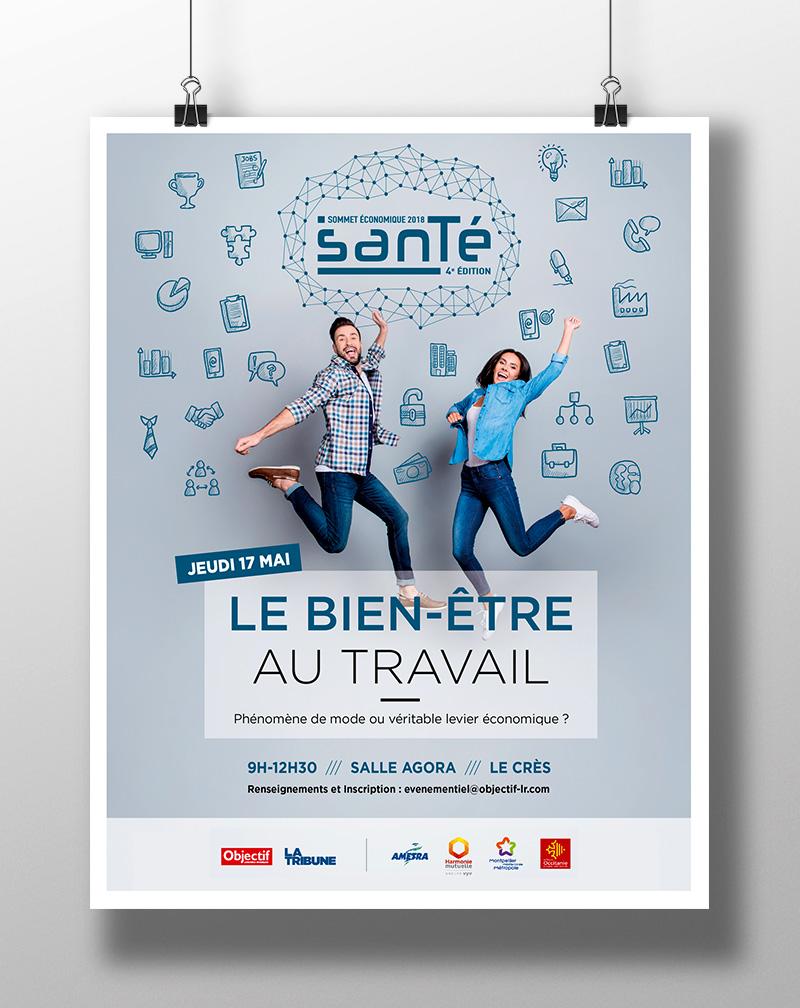 Affiche et site web du Sommet Santé