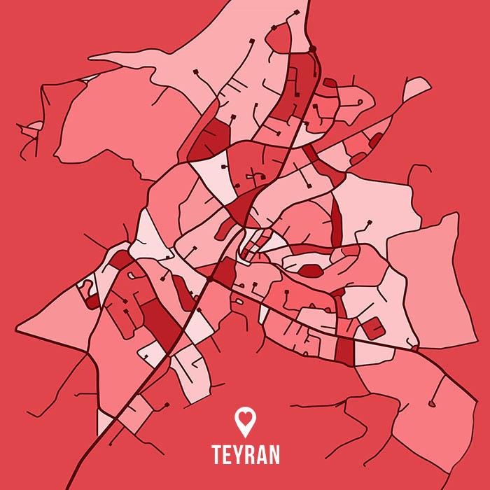 Teyran map