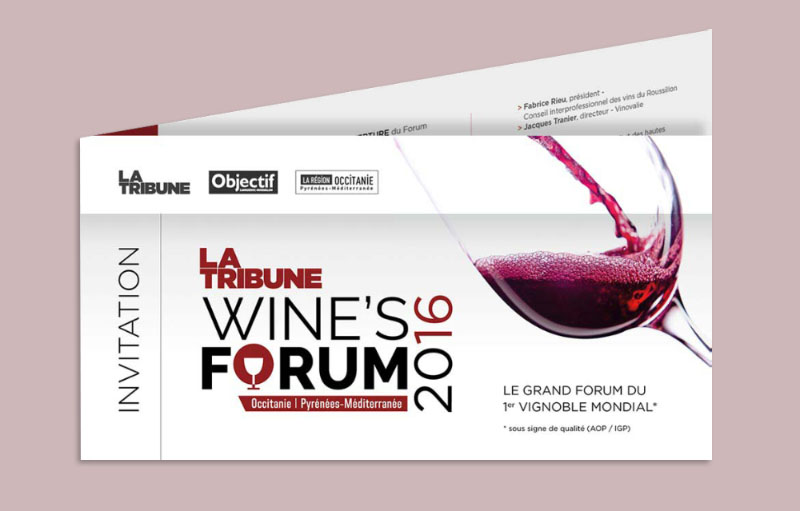 Carton invitation Wine's Forum