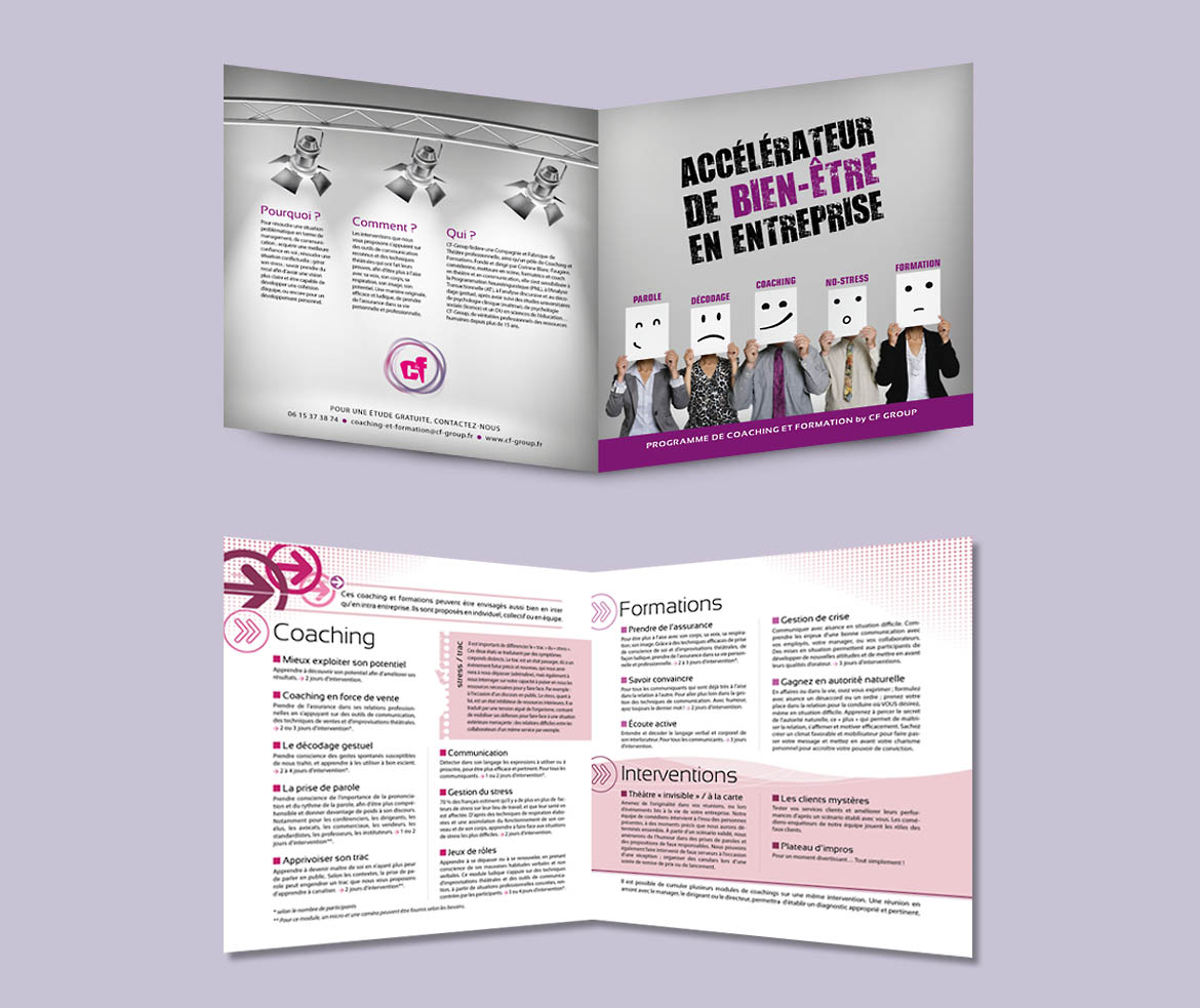 flyer, brochure de Coaching et Formation