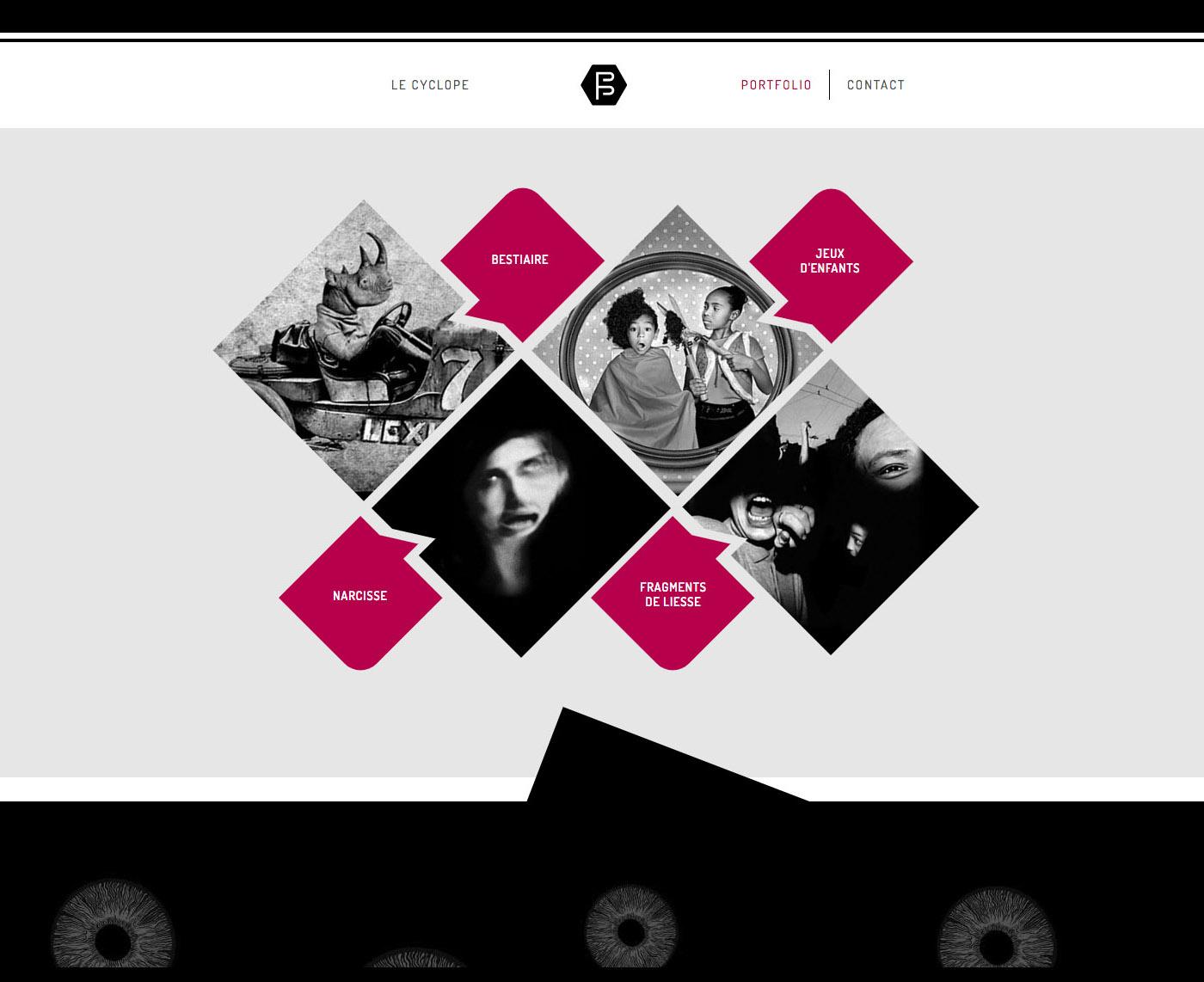 page d'accueil site web photographique cyclope