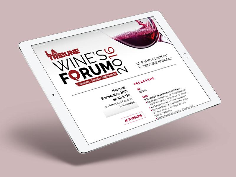 Site web Wine's forum