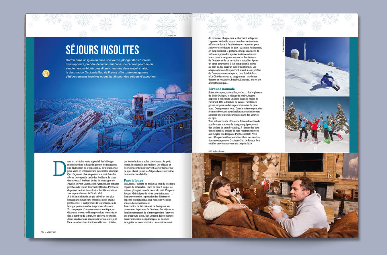 Brochure touristique promotionnelle pour la Région Occitanie