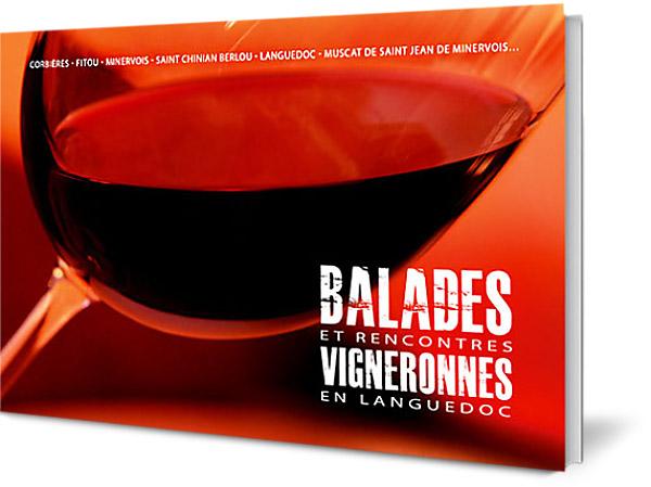 édition : couverture du livre balades vigneronnes